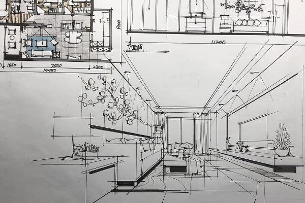 室内设计透视图画法