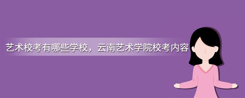 艺术校考有哪些学校,云南艺术学院校考内容