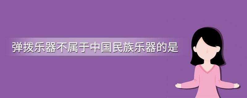 弹拨乐器不属于中国民族乐器的是