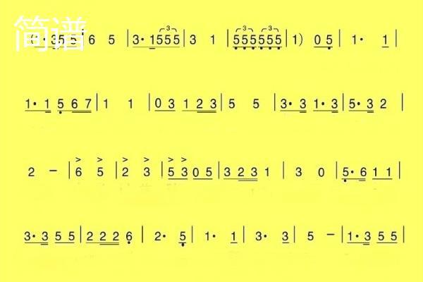 简谱和五线谱区别